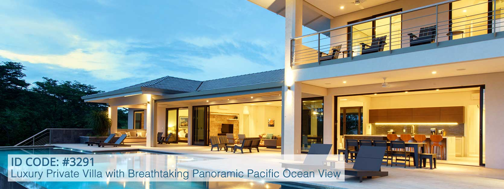 Contemporary, Luxury Private Villa with Breathtaking Panoramic Pacific Ocean View