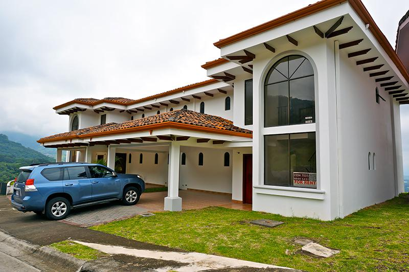 Panoramic view house for rent in vista al valle santa ana for Costa rica rental houses