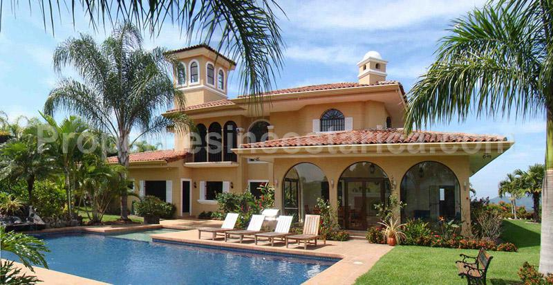 Spanish style estate villa for sale in la garita id code for Villas for rent in costa rica