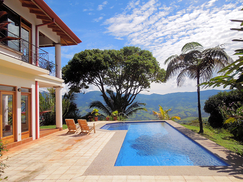 Mountain home with pool and 4 additional building id code for Beach house rentals costa rica